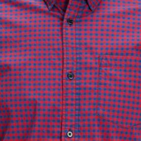 JACK&JONES Camisa slim Rojo 12174477 JCOMONTREAL SHIRT SS ONE POCKET CHILI PEPPER
