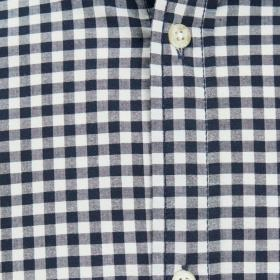 JACK&JONES Camisa slim Azul marino 12174477 JCOMONTREAL SHIRT SS ONE POCKET SKY CAPTAIN