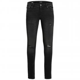 JACK&JONES Jeans skinny Negro 12176092 JJILIAM JJORIGINAL AI 033 JR BLACK DENIM