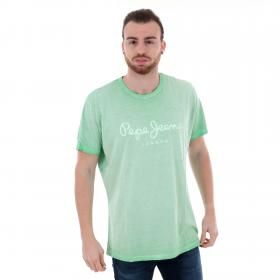 Pepe Jeans Camiseta Verde claro PM504032 WEST SIRT 625 ABSYNTH