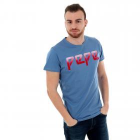 Pepe Jeans Camiseta slim Azul PM506097 MACK 563 STEEL BLUE