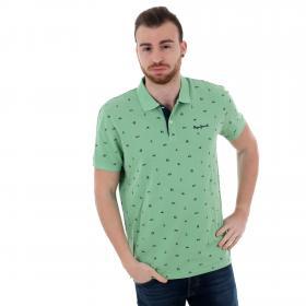 Pepe Jeans Polo slim Verde PM541210 SERGIO625 ABSYNTH