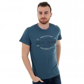 Pepe Jeans Camiseta slim Azul PM507133 EUGENE RO 579 STERLING
