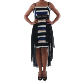 Rinascimento Vestido Negro PAINT/R_BLU