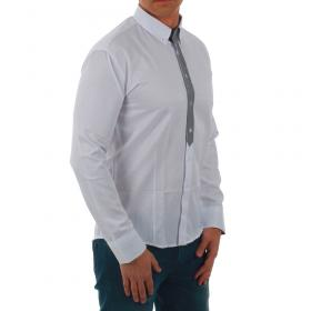 SZ Collection Man Camisa Blanco