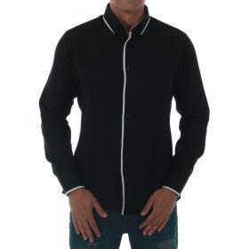 SZ Collection Man Camisa Negro