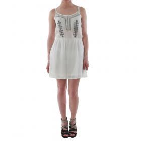 SZ Collection Woman Vestido Blanco WYQ_1622_WHITE