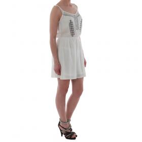 SZ Collection Woman Vestido Blanco WYQ_1622_WHITE