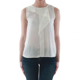 SZ Collection Woman Camiseta Blanco roto WCS_1233_WHITE