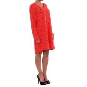 Vero Moda Vestido Rojo 10191185 VMSISSY 3/4 MINI DRESS D2 LCS FLAME SCARLET