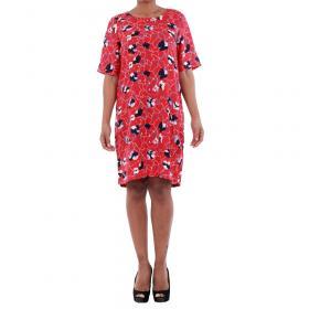 Vero Moda Vestido Rojo 10197062 VMISOLDE GABBY 2/4 DRESS D2-1 LYCHEE/ISOLDE PRI