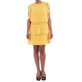 Vero Moda Vestido Amarillo 10193957 VMARUBA S/S SHORT DRESS SB8 YOLK YELLOW