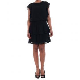 Vero Moda Vestido Negro 10193957 VMARUBA S/S SHORT DRESS SB8 BLACK