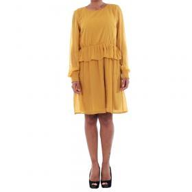 Vero Moda Vestido Amarillo 10196226 VMKIM L/S SHORT DRESS O17 HARVEST GOLD