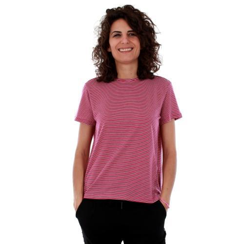 Vero Moda Camiseta Fucsia 10209165 VMAVA S/S TOP STRIPE GA FESTIVAL FUCHSI