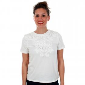 Vero Moda Camiseta Blanco 10210416 VMMONA SS TOP SOLID SNOW WHITE