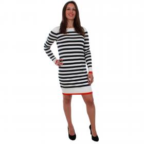 Vero Moda Vestido Azul marino 10207957 VMDOSS LACOLE LS O-NECK DRESS BOOSTER NIGHT SKY