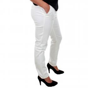 Vero Moda Pantalón Blanco 10201932 VMLEAH MR CLASSIC PANT COLOR SNOW WHITE L32