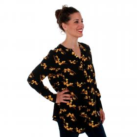 Vero Moda Camisa Negro 10201931 VMSAGA LS TUNIC BLACK VIGGA BL