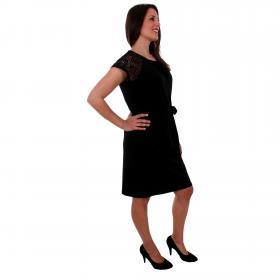 Vero Moda Vestido Negro 10211608 VMALBERTA SS LACE DRESS NOOS BLACK