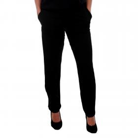 Vero Moda Pantalón cordones Negro 10201940 VMSAGA NW STRING PANT BLACK SOLID