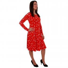 Vero Moda Vestido Rojo 10211791 VMGERDA LS ABK DRESS JRS FIERY RED GERDA