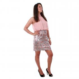 Vero Moda Vestido Rosa 10213824 VMELLE SL HIGHNECK SHORT DRESS WVN MISTY ROSE
