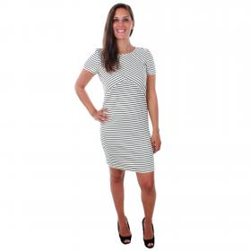 Vero Moda Vestido Blanco 10211525 VMIGGA SLIM SHORT DRESS NOOS SNOW WHITE BLACK