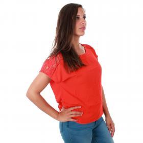 Vero Moda Camiseta Rojo 10213128 VMCILLE BOCA SS TOP WVN FIERY RED