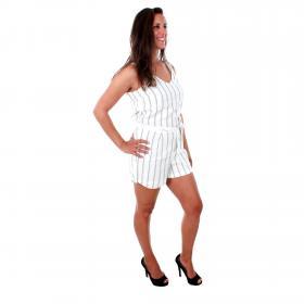 Vero Moda Vestido Blanco 10210205 VMANNA MILO SL PLAYSUIT STRIPE WVN