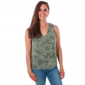 Vero Moda Camiseta Verde 10214431 VMWILLOW SL TOP LAUREL WREATH