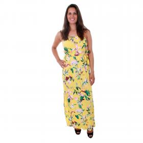 Vero Moda Vestido Amarillo 10211487 VMSIMPLY EASY SLIM SLIT MAXI DRESS YARROW TRILLE