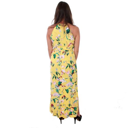 Vero Moda Vestido Amarillo 10211487 VMSIMPLY EASY SLIM SLIT MAXI DRESS YARROW TRILLE