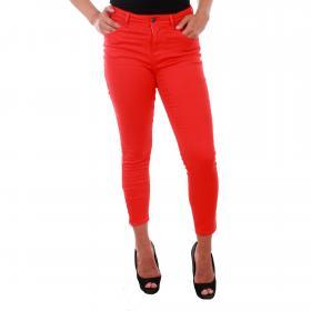 Vero Moda Jeans Rojo 10209869 VMHOT SEVEN MR SLIM ANK ZIP PANTS COLOR FIERY RED L30