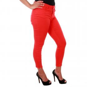 Vero Moda Jeans Rojo 10209869 VMHOT SEVEN MR SLIM ANK ZIP PANTS COLOR FIERY RED L32
