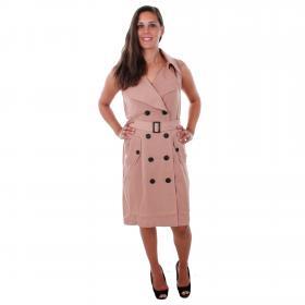 Vero Moda Vestido Marrón 10211944 VMBELLA SL WAISTCOAT CAFÉ AU LAT