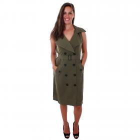 Vero Moda Vestido Verde 10211944 VMBELLA SL WAISTCOAT IVY GREEN