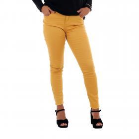 Vero Moda Jeans slim Mostaza 10210798 VMHOT SEVEN MR SLIM PUSH UP PANTS AMBER GOLD