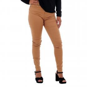 Vero Moda Jeans slim Marrón 10210798 VMHOT SEVEN MR SLIM PUSH UP PANTS TOBACCO BROWN