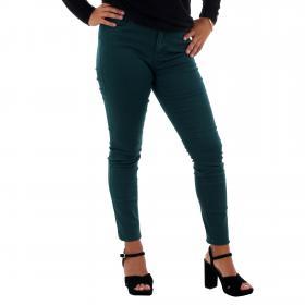 Vero Moda Jeans slim Verde oscuro 10210798 VMHOT SEVEN MR SLIM PUSH UP PANTS PONDEROSA PINE
