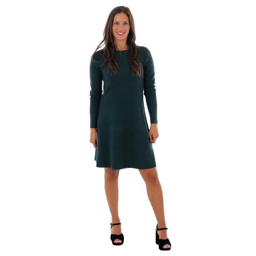 Vero Moda Vestido Verde oscuro 10206984 VMNANCY LS KNIT DRESS COLOR PONDEROSA PINE