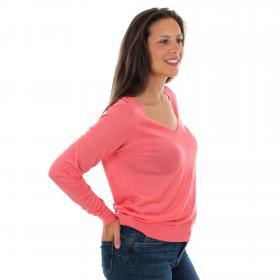 Vero Moda Jersey Rosa 10223714 VMLINA LS V-NECK BLOUSE BOOSTER TEA ROSE
