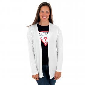 Vero Moda Jersey Blanco 10226067 VMBRIANNA LS OPEN CARDIGAN BOOSTER REP SNOW WHITE