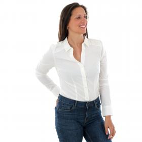 Vero Moda Camisa Blanco 10145522 VMLADY LS GSTRING SHIRT NOOS SNOW WHITE